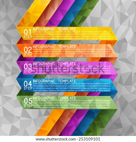 Business background, five steps plan, EPS 10, file contains transparency. - stock vector