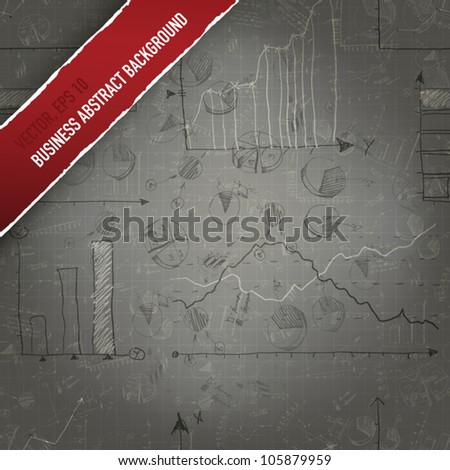 Business background from successful graphs and charts. Vector, EPS 10 - stock vector