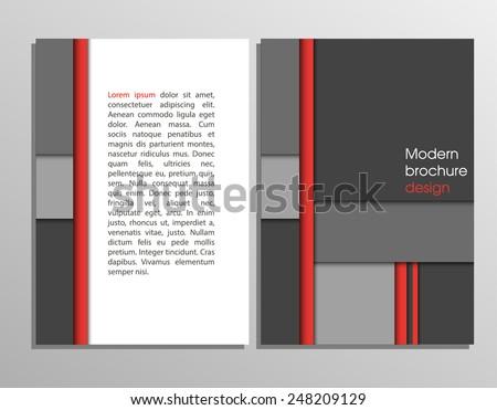 Business background. Vector template. Poster. Vector Business Flyer. Modern Brochure Design. EPS 10 - stock vector