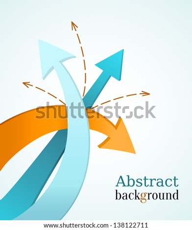 Business background with color arrows. - stock vector