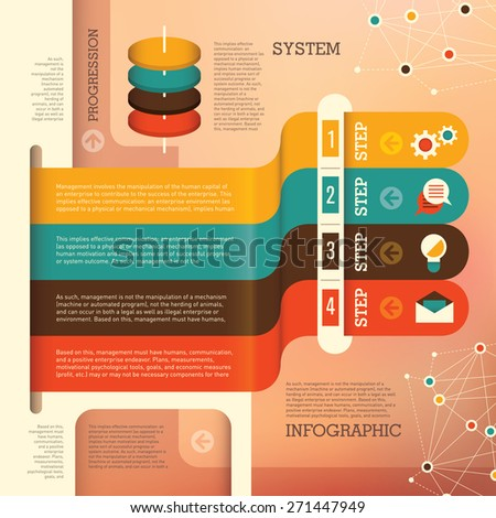 Business background with info graphic. Vector illustration. - stock vector