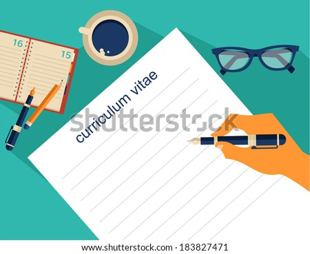 business background resume vector stock vector 183827471
