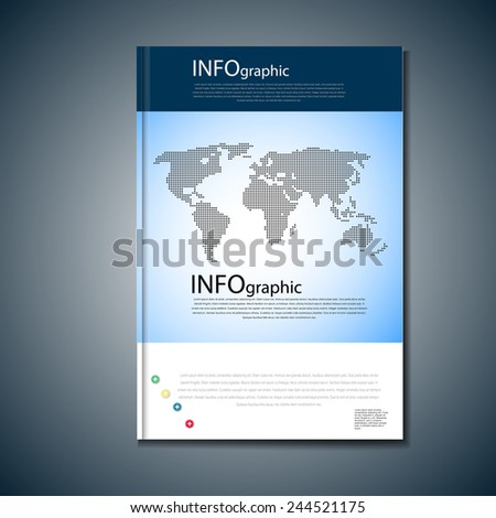 Business background with world map for web use. - stock vector