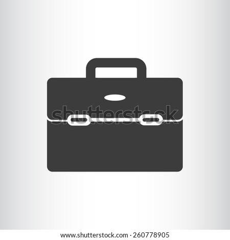 business bag for documents web icon. vector design - stock vector