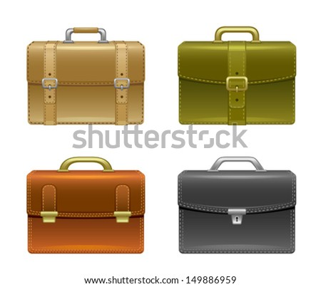 Business bag set - stock vector