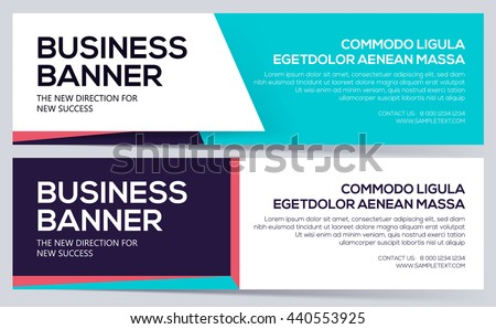 Business banner template. vector business banners. can use for website header. Layout elegance design. - stock vector
