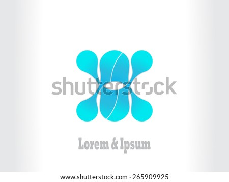 Business blue abstract logo with geometric elements background  infinity  - stock vector