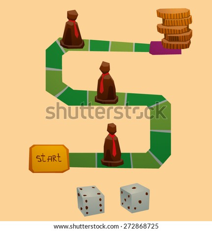 Business board game, vector - stock vector