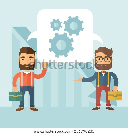 Business brainstorming.  - stock vector