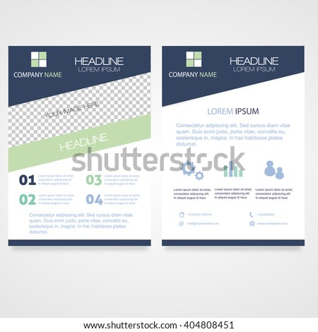 Business Brochure A4 Flyer Design (Proportionally:A4 Size) - stock vector