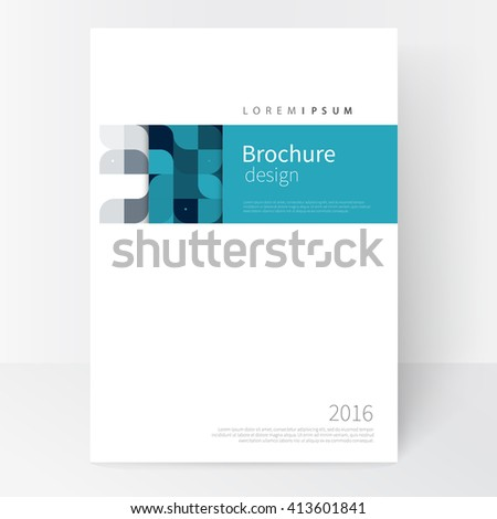 Business brochure cover template. cover design annual report, flyer, leaflet, poster. Geometric Abstract background White, blue and black squares. stock-vector EPS 10