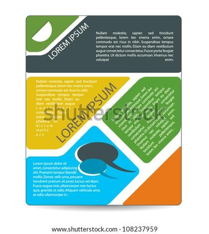 business brochure design - stock vector