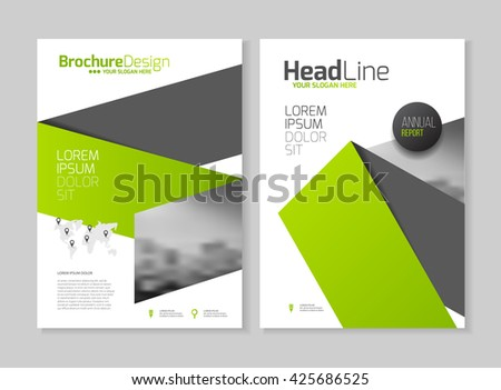 Tri Fold Brochure Design Corporate Business Stock Vector 633320828