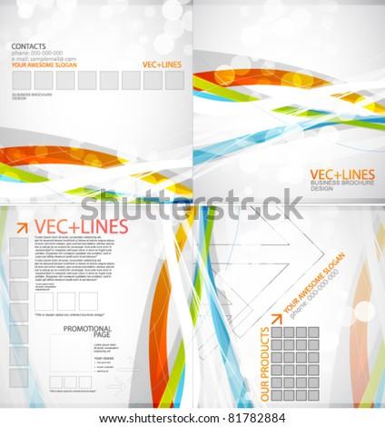Business brochure design template - stock vector