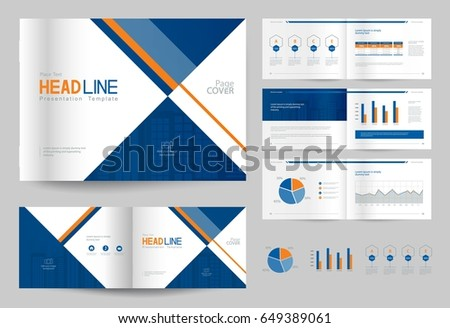 company profile brochure template - company profile template stock images royalty free images