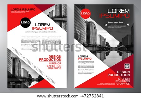 business brochure flyer design a4 template stock vector
