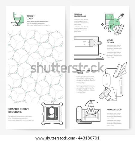 Business brochure flyer design layout template: Graphic design brochure - stock vector