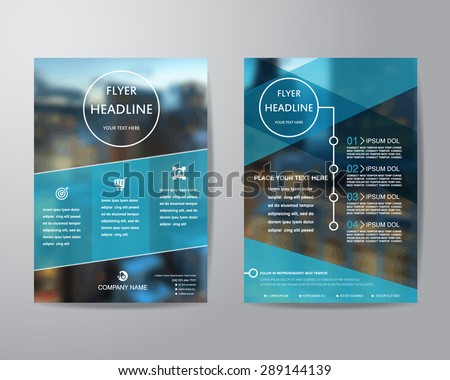 business brochure flyer design layout template in A4 size, with blur background, vector eps10. - stock vector