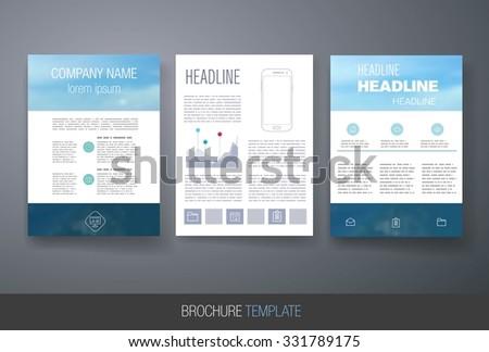 Business Brochure Template Stock Vector Shutterstock - Business brochures templates