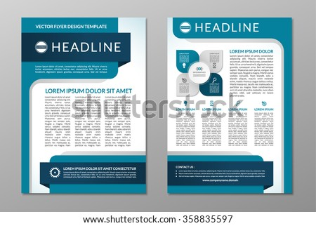 Business brochure flyer design template front stock vector 2018 business brochure flyer design template front and back page in a4 size vector layout saigontimesfo