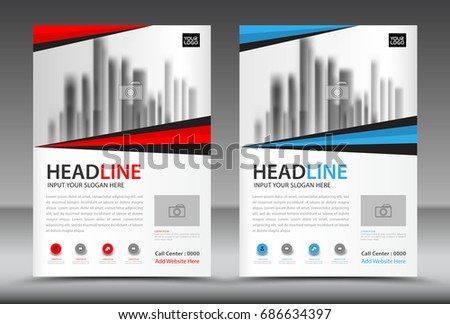 Business Brochure Flyer Template Annual Report Stock Vector ...
