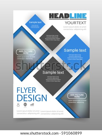 Brochure Design Flyer Template Business Education Stock Vector