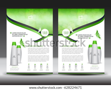 Business brochure flyer template green cover stock photo photo business brochure flyer template green cover design annual report newsletter ads spiritdancerdesigns Images