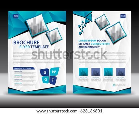 Brochure Mock Design Template Business Education Stock Vector - Business brochure template