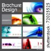 Business Brochure Layout Design Template with 14 pages (7 spreads) Preview. - stock vector