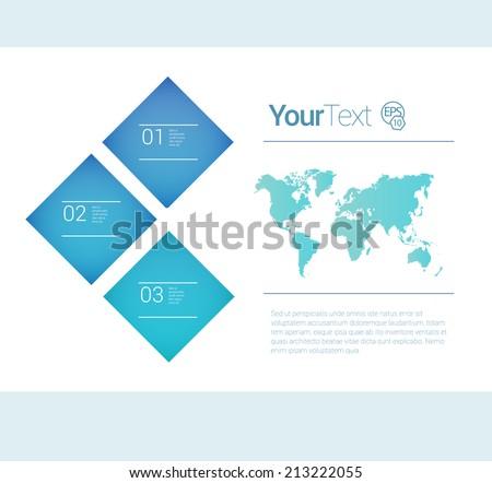 Business brochure layout element - stock vector