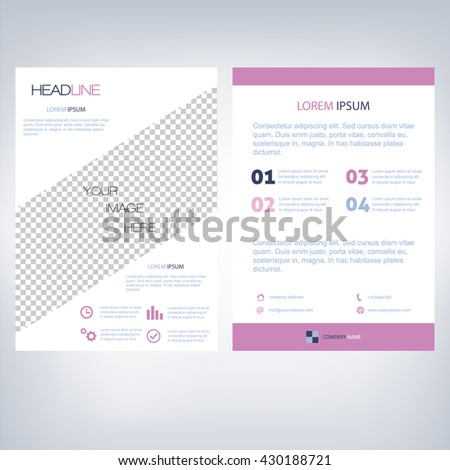 Business Brochure Template A4 Flyer Design (Proportionally:A4 Size)