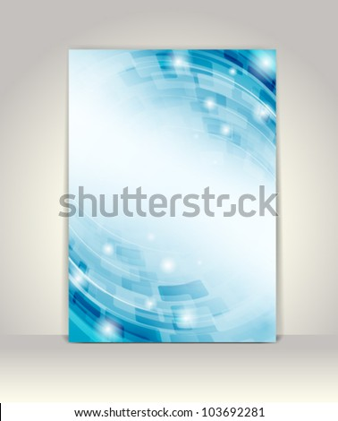 Trifold brochure template stock vector 265619078 for Technology brochure templates