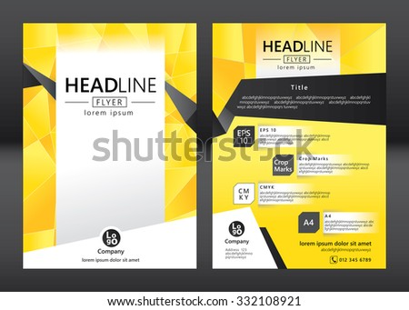 Brochure Template Design Geometric Pattern Square Vector – Advertising Brochure Template