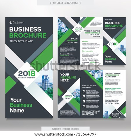 Business Brochure Template Tri Fold Layout Stock Vector 713664997