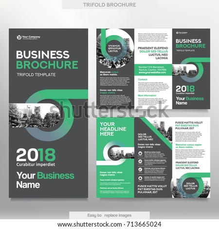 Business Brochure Template Tri Fold Layout Stock Vector - Brochure template tri fold
