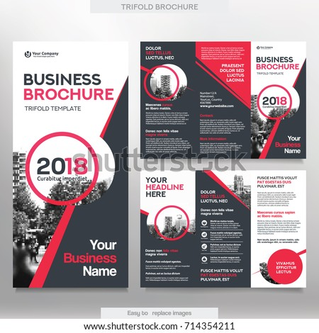 Business Brochure Template Tri Fold Layout Stock Vector 714354211