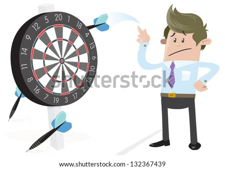 Business Buddy misses the Target. - stock vector