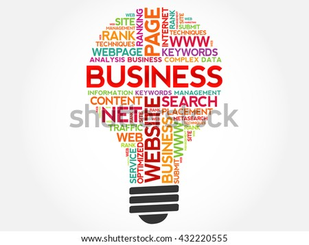 BUSINESS bulb word cloud, business concept - stock vector