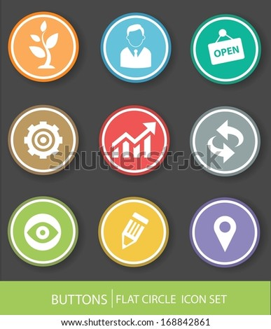 Business buttons,Colorful version,vector - stock vector