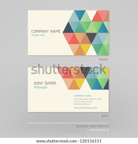 Business card abstract background. Vector illustration. - stock vector