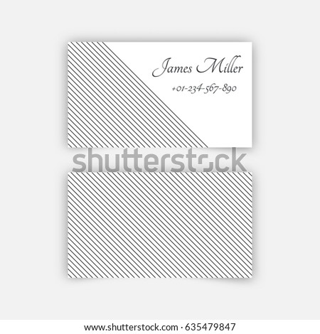 Business Card Blank Template Textured Background Stock Vector - Business card blank template