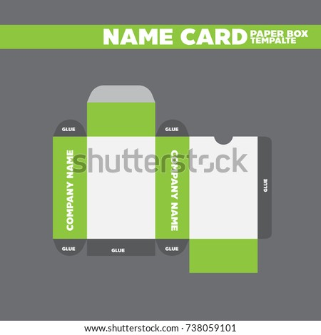 Business card box package template your stock vector royalty free business card box package template for your design ready to print reheart Image collections