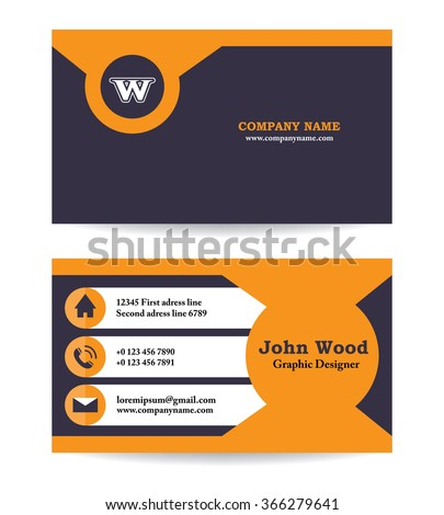 Business card business card template business stock vector 366279641 business card business card template business card design modern business card vector reheart Gallery