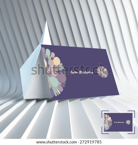Business card. Colorful fireworks. Can be used for advertising, marketing, presentation. 3d vector illustration with place for text. - stock vector