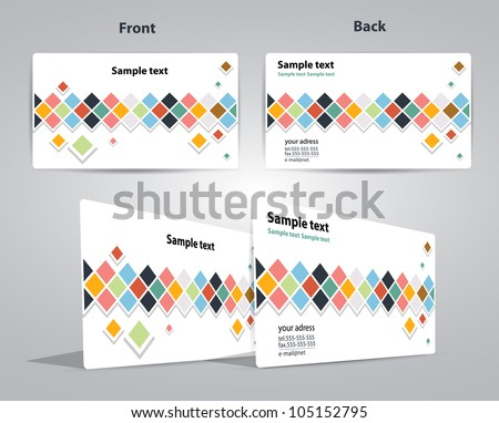 business card cube design vector illustration eps - stock vector