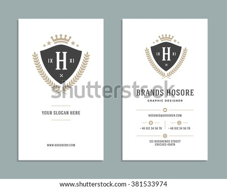 Business card design king crown logo stock vector hd royalty free business card design and king crown logo template vector design element vintage style for logotype colourmoves