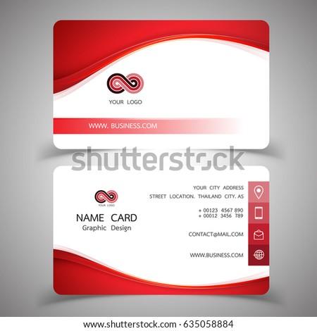 Business card design set modern creative stock photo photo vector business card design set modern creative business card template vector illustrations reheart Images