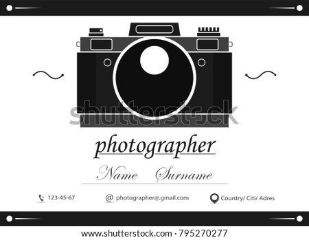 Business card design template business card stock vector 2018 business card design template business card for photographer or graphic designer photo studio logotype reheart Choice Image
