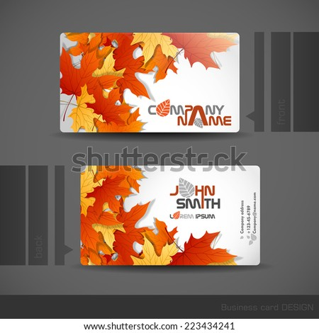 Business Card Design.  Vector Illustration. Eps 10 - stock vector