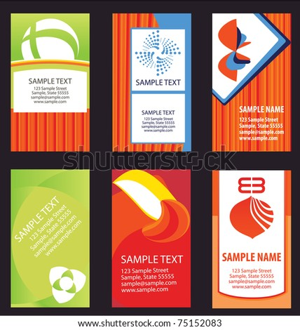 Business card Designs - stock vector